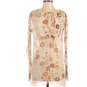 Prada Printed Silk Blouse (Size XS)